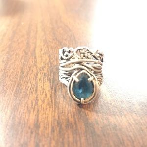 Jewelry - Handmade sterling silver Topaz ring